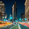 Car Trails In Front Of The Flat Iron Building, New York City 3/1/20