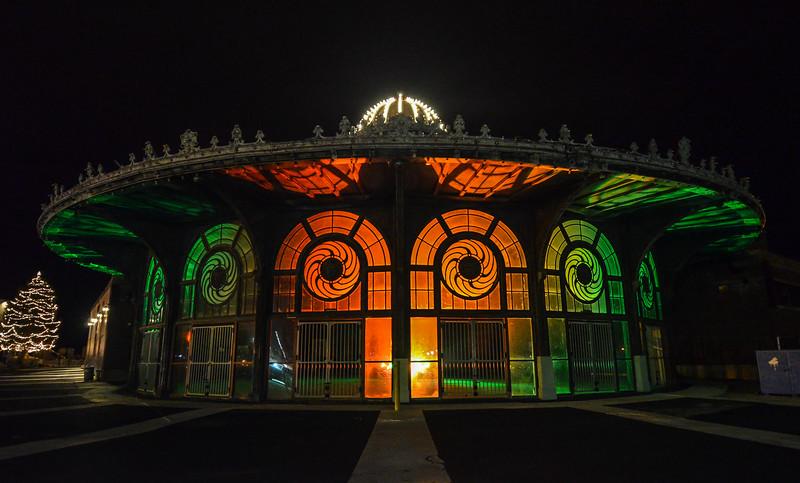 The Carousel Building at Christmas Time, Asbury Park, NJ