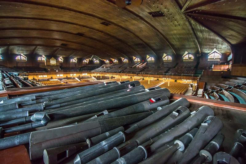 Pipes for Organ at Ocean Grove Great Auditorium 5/2/16