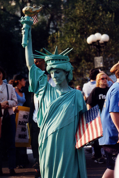Statue of Liberty woman 9-11