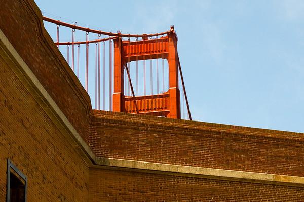 Fort Point & Golden Gate Bridge  San Francisco, California