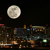Super Moon over Syracuse - shot on March 19, 2011 around 9:00 PM - from the garage rooftop at St. Joseph's Hospital, Syracuse, New York. Upstate !!! by: Cathryn Lahm, Photographer
