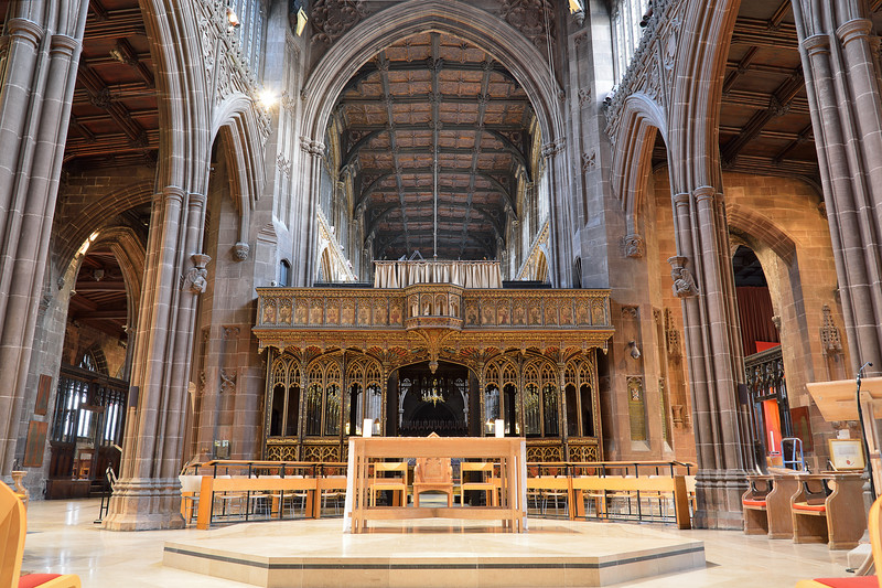 Manchester Cathedral's nave