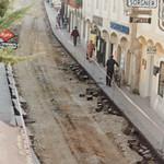 Nach der Eröffnung der Fußgängerzone im Juni 1986 wurde die Innenstadt von Melk neu gestaltet. <br /> Foto: Archiv Josef Dallinger