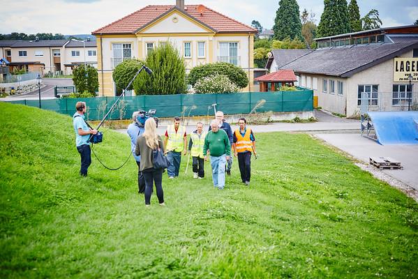 ORF-Dreh für die ZIB2 am Montag, 22. August: Die Arbeiten sind abgeschlossen. <br /> Foto: Stadt Melk / Gleiß
