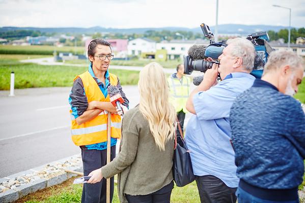 ORF-Dreh für die ZIB2 am Montag, 22. August: Mansoor Hussein im Interview.<br /> Foto: Stadt Melk / Gleiß