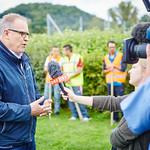 ORF-Dreh für die ZIB2 am Montag, 22. August: Bürgermeister Thomas Widrich im Interview.<br /> Foto: Stadt Melk / Gleiß