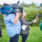 ORF-Dreh für die ZIB2 am Montag, 22. August: Betreuer Paul Zeller im Interview.<br /> Foto: Stadt Melk / Gleiß