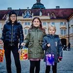 Marinsumzug im Stift Melk: Larissa Lechner (v. l.), Nina Fichtinger und Nina Hainitz.