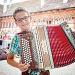 Beim Sonnwend Open Air der Musikschule Region Schallaburg: Rene Kanzler. Foto: Stadt Melk / Gleiß