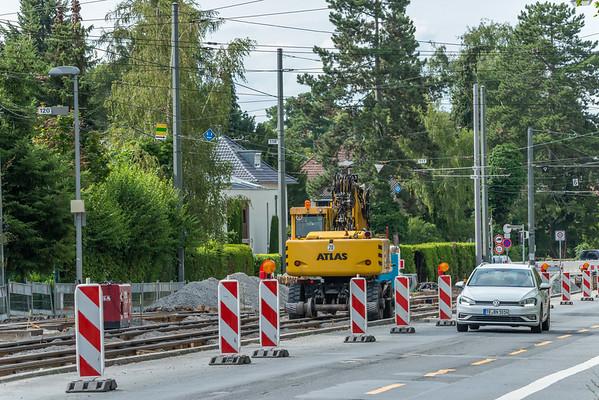 Baustelle Nieder-Ramstädter Straße, 19. Juli 2019 (Foto: Christoph Rau)