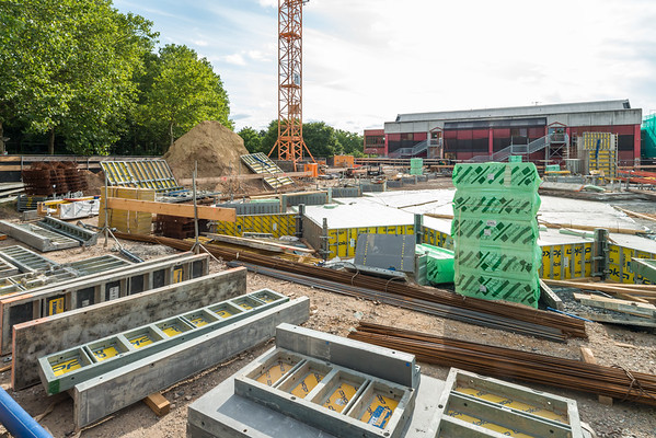 Baustelle Berufsschulzentrum Nord, 21. Juli 2019 (Foto: Christoph Rau)