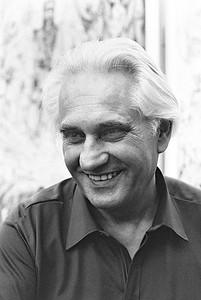 Jörg Zink (1922 - 2016) evangelischer Theologe, Pfarrer, Publizist am 7. Juni 1985 auf dem  21. Evangelischer Kirchentag in Düsseldorf (Foto: Christoph Rau, www.christoph-rau.de)