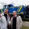 Gespräche während der Bahnwelttage 2010 mit dem Darmstädter Oberbürgermeister Walter Hoffmann (rechts)