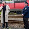 Bahntage 2010 im Eisenbahnmuseum Darmstadt-Kranichstein am 13.5.2010, Eröffnung durch Oberbürgermeister Walter Hoffmann (links), rechts: Gerd Vocke von der Bahnwelt Kranichstein