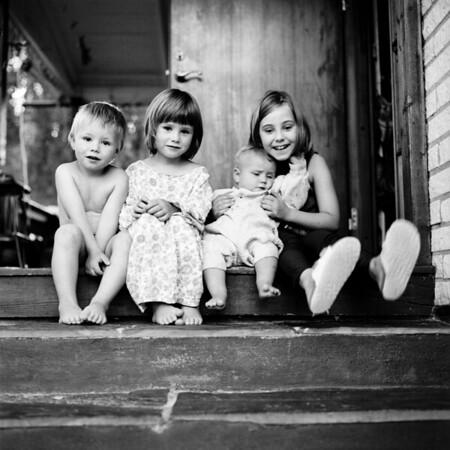 Sofie und ihre Geschwister, Horndal (Provinz Dalarnas län, Schweden), 10. August 1996  (Foto: Christoph Rau)