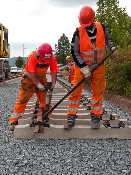 Strassenbahn-Baustelle