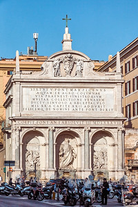 Fontana dell'Acqua Felice on Piazza di San Bernardo in Rome, Italy