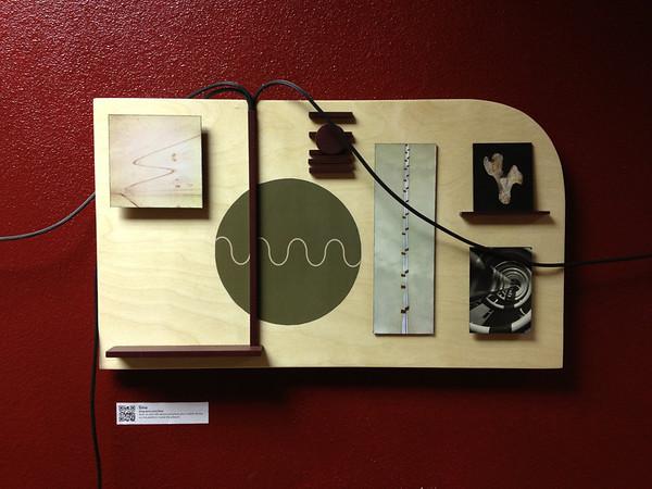 """""""Sine"""", wood panel"""