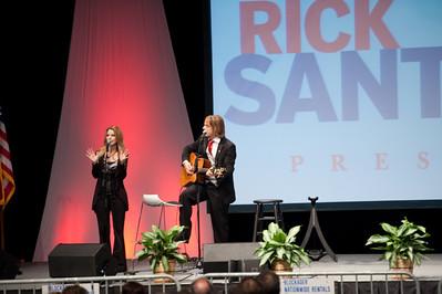 Rick Santorum Rally at Belmont University