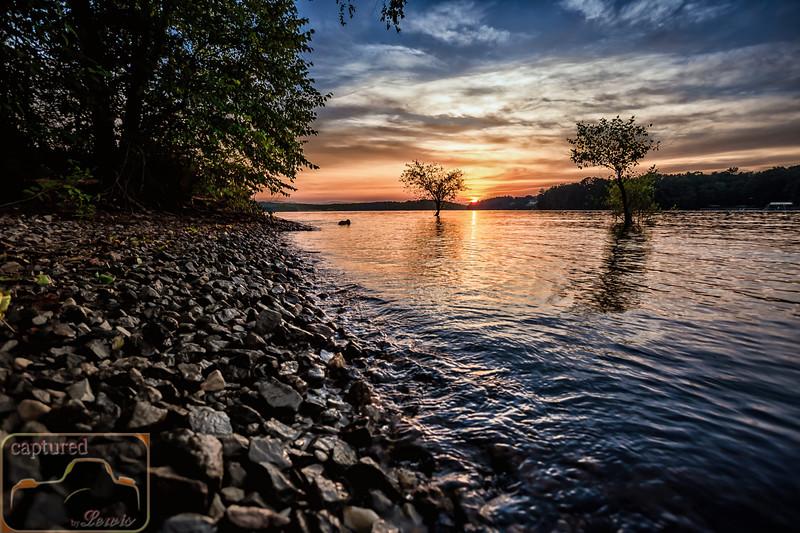 Blue Ridge Lake Sunset, North GA