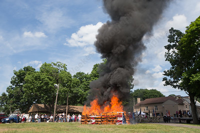 Sunday during the American Legion Post 45 Watch Fire ceremonies in Meriden Jun. 14, 2015 | Justin Weekes / For the Record-Journal