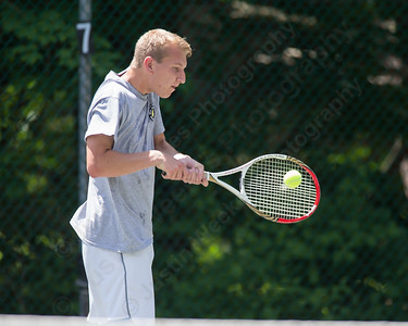 Luke Pfanzelt Sunday during the Wint Filipek Sr. Tennis Tournament held at Copper Valley Club in Cheshire Jun. 14, 2015 | Justin Weekes / For the Record-Journal