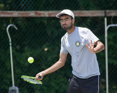 Kunal Kataria Sunday during the Wint Filipek Sr. Tennis Tournament held at Copper Valley Club in Cheshire Jun. 14, 2015 | Justin Weekes / For the Record-Journal