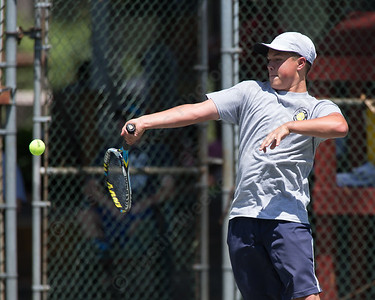 Ben Chasse Sunday during the Wint Filipek Sr. Tennis Tournament held at Copper Valley Club in Cheshire Jun. 14, 2015 | Justin Weekes / For the Record-Journal