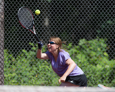 Justine Hoover Sunday during the Wint Filipek Sr. Tennis Tournament held at Copper Valley Club in Cheshire Jun. 14, 2015 | Justin Weekes / For the Record-Journal