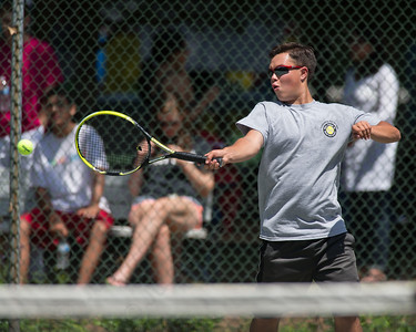 Jacob Chasse Sunday during the Wint Filipek Sr. Tennis Tournament held at Copper Valley Club in Cheshire Jun. 14, 2015 | Justin Weekes / For the Record-Journal