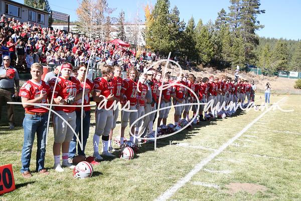 Football South Tahoe @ Truckee  Freshman and Varsity, Seniors, Cheer and Band