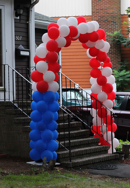 Swampscott, Ma. 8-15-17. A different kind of American flag 307 Paradise Road, in Swampscott.