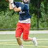 08/18/2017. Lynnfield football practice. Max Boustris makes a catch.
