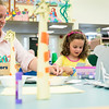 Laurie Perino and her daughter Marjorie Miceli, 3, both of Lynnfield, work on making a koala puppet during the End of Summer Reading Party at Lynnfield Public Library.