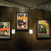 """Posters of the films Dracula and Nosferatu in the """"It's Alive!"""" exhibit at the Peabody Essex Museum."""