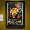 """A poster for The Cabinet of Dr. Calligari, 1921, on display in the """"It's Alive!"""" exhibit at the Peabody Essex Museum."""
