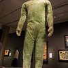 """A prop suit from Invaders from Mars, 1953, on display in the """"It's Alive!"""" exhibit at the Peabody Essex Museum."""