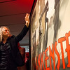 """Metallica guitarist Kirk Hammett speaks about the 1931 poster for Frankenstein on display at the Peabody Essex Museum as part of the """"It's Alive!"""" exhibit."""