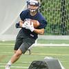 08/18/2017. Lynnfield football practice. Jack Razzaboni runs around an obstacle.