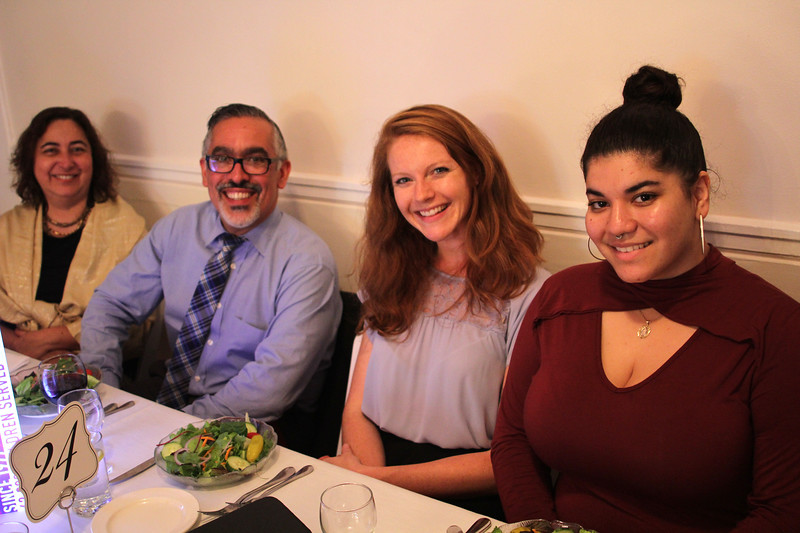 Nahant, Ma. 9-28-17. Maroli Licardie, Ruben Montano, Alex Norby, and Gladys Hidalgo enjoying themselves at the Children's Law Center 40th celebration at the Nahant Country Club.