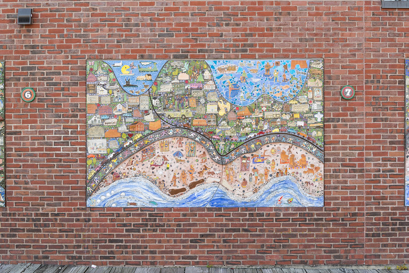 One of nine mosaic murals at Heritage State Park.