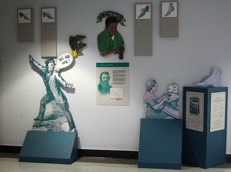 Lynn, Ma. 9-28-17. The art on Lynn's history in the foyer at the library at Lynn English High School.