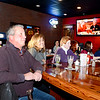 Lynn, Rolly's Tavern.  Television ad that ran for Rolly's at 3:30PM on Saturday.<br /> Rolly Hayes and his wife Wendy, co-owners of Rolly's Tavern in foreground. To the lft of Wendy: Laura Schromm, Wakefield, Maggie Shanahan, Peabody, Molly Shanahan, Peabody, and Karen Shanahan, Lynn.