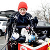 Marblehead, Front Street.  Val Feehan, Swampscott, packs up her cameras after a dive in Marblehead Harbor.  The water was 34 degrees and she and her husband, John and friend Tom Conway of Danvers had been diving to photograph the sea life, in particular, the sea slugs that roam around the harbor floor.