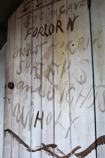 The wall in the attic at 7 Franklin Street in Lynn. Photo by Owen O'Rourke