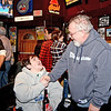 Lynn, Tony's Pub. Fundraiser for Golf Cart.  John LeBlanc, Lynn and Nick Capano talk during the fundraiser.