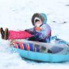 Lynn, Gannon Golf Course. Hailee Gerrior, Lynn, on her snow tube.