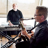 Jazz music by Marty Rowen, Reading, at the keyboard and Paul Ahlstrand, saxaphone.