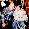 Lynn, Tony's Pub. Tony Nicosia, owner and manager of Tony's Pub with Nick Capano.  The fundraiser was to purchase a golf cart for the disabled.